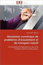 Résolution numérique de problèmes d'écoulement et de transport réactif