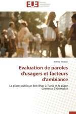 Evaluation de Paroles D'Usagers Et Facteurs D'Ambiance:  Controle D''Acces