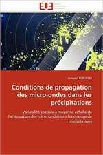 Conditions de propagation des micro-ondes dans les précipitations
