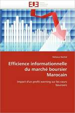 Efficience Informationnelle Du Marche Boursier Marocain:  Cas de Amasco