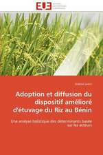 Adoption Et Diffusion Du Dispositif Ameliore D'Etuvage Du Riz Au Benin
