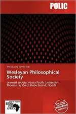 WESLEYAN PHILOSOPHICAL SOCIETY