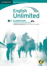 English Unlimited for Spanish Speakers Elementary Teacher's Pack (Teacher's Book with DVD-ROM)