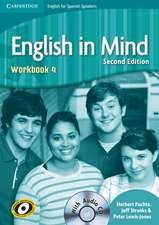 English in Mind for Spanish Speakers Level 4 Workbook with Audio CD