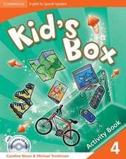 Kid's Box for Spanish Speakers Level 4 Activity Book with CD-ROM and Language Portfolio