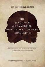 The Janus Face of Commercial Open Source Software Communities: An Investigation Into Institutional (Non)Work by Interacting Institutional Actors