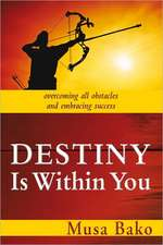 Destiny Is Within You:  Overcoming All Obstacles and Embracing Success