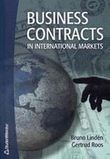 Business Contracts in International Markets