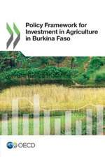 Policy Framework for Investment in Agriculture in Burkina Faso