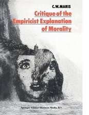 Critique of the Empiricist Explanation of Morality: Is there a Natural Equivalent of Categorical Morality?