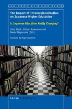 The Impact of Internationalization on Japanese Higher Education