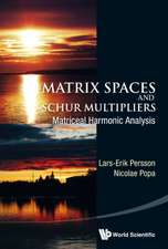 Matrix Spaces and Schur Multipliers:  Matriceal Harmonic Analysis